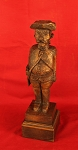 Antique Hand Carved Wood Folk Art Revolutionary War Soldier