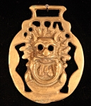 Vintage Horse Brass with Clown Face