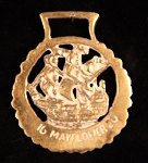 Vintage Horse Brass with Mayflower