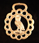 Vintage Horse Brass with Owl