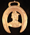 Equestrian Horse Brass with Jockey