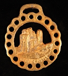 Equestrian Horse Brass with Corfe Castle