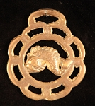 Equestrian Horse Brass with Fish