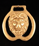 Equestrian Horse Brass with Lion's Head