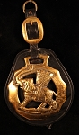 Extremely Large Elephant Horse Brass on Leather Strap