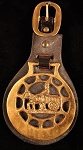 Large English Horse Brasses on Leather Strap