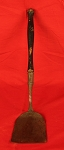 Fantastic Decorated Circa 18th Century Wrought Iron Spatula with Original Paint