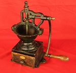 SOLD    Large Antique Cast Iron Coffee Mill