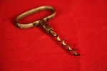 Circa 1890's Iron Corkscrew with Large Oval Handle