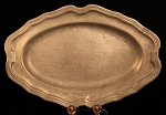 SOLD -Large Rare 18th Century Heavy Pewter Oblong Charger or Platter