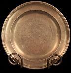 Antique 18th Century Deep Dish Pewter Charger