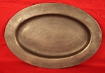 Antique Pewter Oval Platter or Charger, Samuel Duncomb, 1740-1780