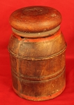 Antique Dated 1887 Hand Lathe Turned and Carved Interior Solid Wood Pantry Box