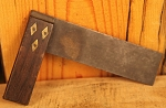1800's Antique Wood and Brass Square with Makers Mark