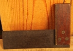 19th Century Wood Iron and Brass Square