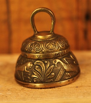 Antique Large Circa 1800's Ornate Brass Bell