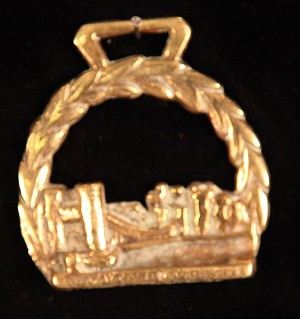 Classic Rare Welsh Horse Brass Conway Castle and Bridge