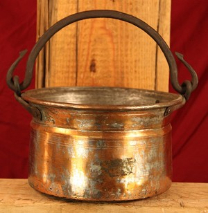 Antique French Hammered Jam Pot