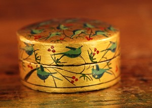 Antique Victorian Hand Painted Box