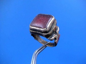 Large Antique Ring with Carnelian Gem