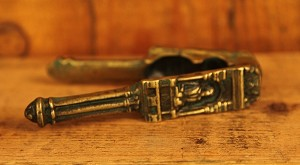 Antique Ornate 19th Century Brass Shakespeare Nutcracker