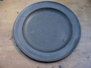 "18th Century 15"" Diameter English Pewter Charger"