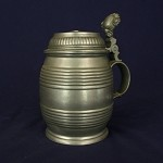 Dated 1875 Pewter Tankard with Maker's Mark