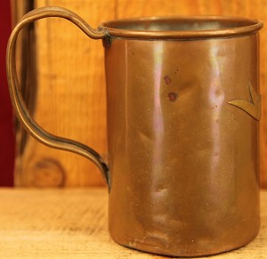 Large Antique Copper Stein, Tankard or Mug