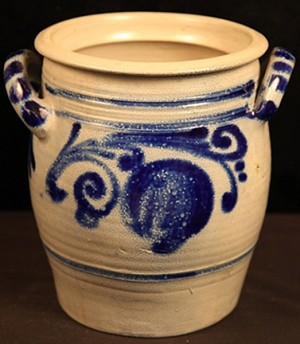 Circa 1890's Hand-Thrown German Westerwald Pottery - 4 Liter