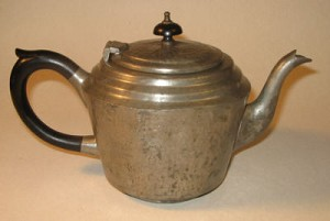 Antique Ornate Pewter Teapot