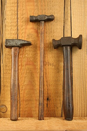 Set of Three Antique Circa 17-1800's  Hammers