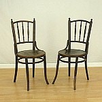 Antique Circa Early 1800's Stained Imprint Seat Chair